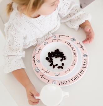 Kinderservies-opa-en-oma-roze